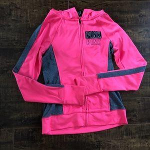Victoria secret Pink bright pink athletic zip up